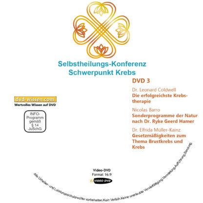 Selbstheilungs-Kongress, Schwerpunkt Krebs, DVD-Komplettpaket 3 DVD-Wissen - Experten Know How - Dokus, Filme, Vorträge, Bücher