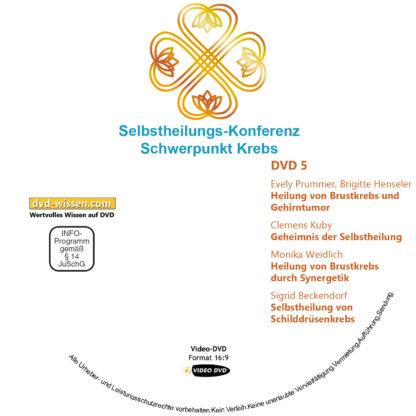 Selbstheilungs-Kongress, Schwerpunkt Krebs, DVD-Komplettpaket 5 DVD-Wissen - Experten Know How - Dokus, Filme, Vorträge, Bücher