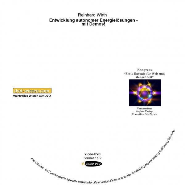 Reinhard Wirth: Entwicklung autonomer Energielösungen - mit Demos!